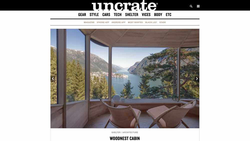 Woodnest and Krysset featured on uncrate.com