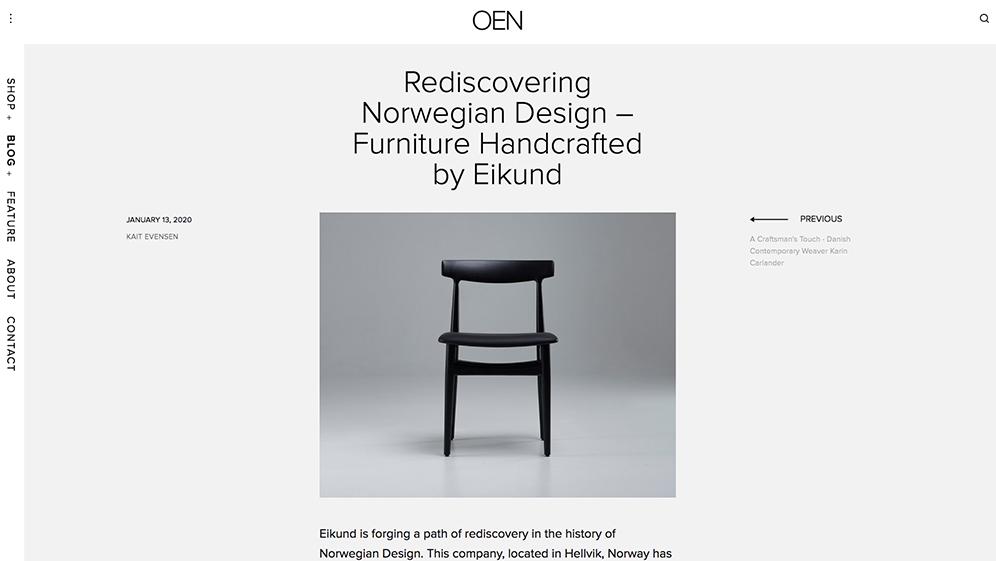 Rediscovering Norwegian Design – Furniture Handcrafted by Eikund