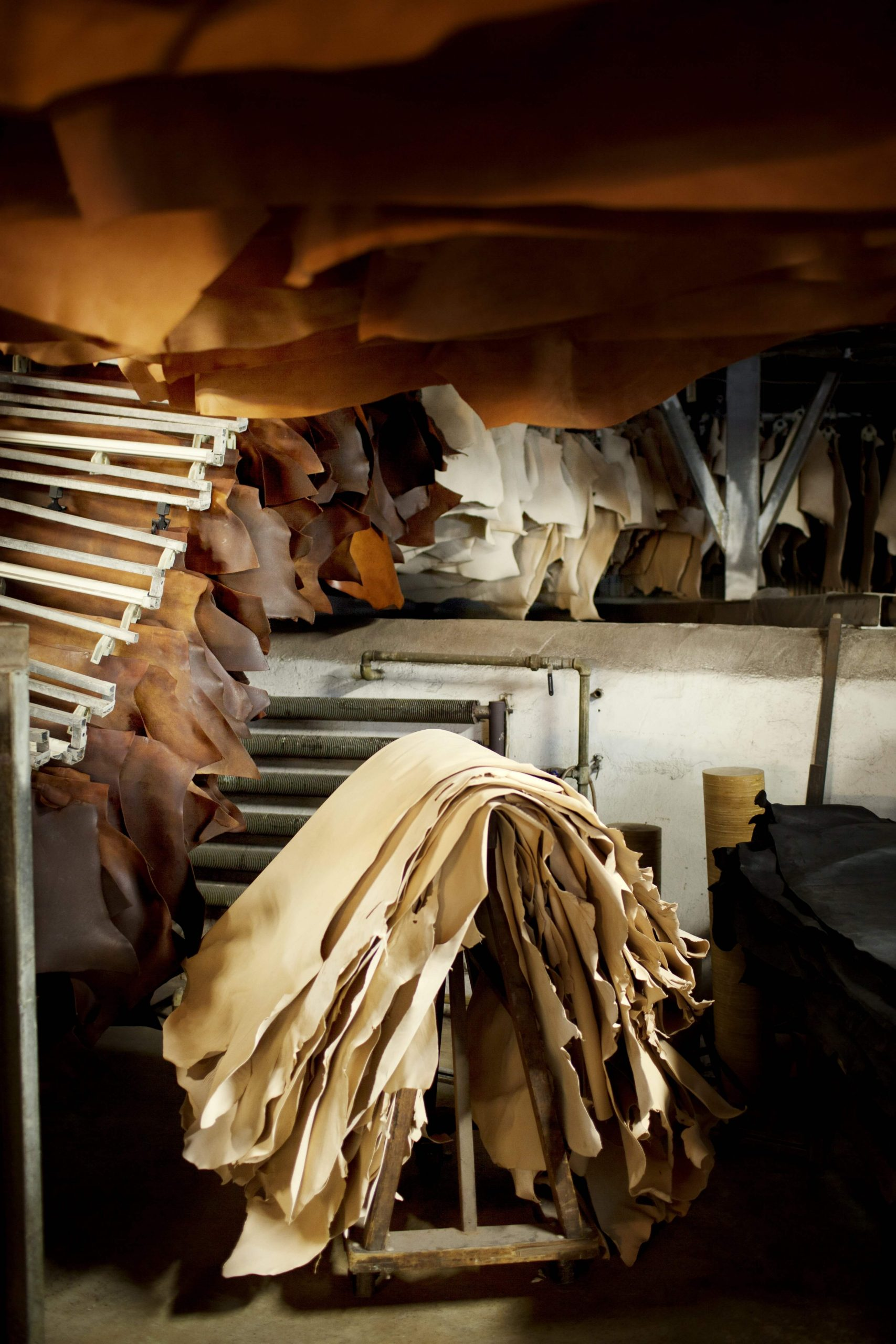 The eco-friendly leather is a natural material managed using processes and chemicals that are safer for the environment.